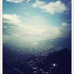 Innsbruck from above. Pretty cool view to wake up to!