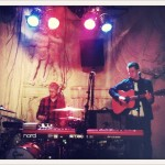 Soundcheck at Prinzenbar. The Goodlooking Two in action!