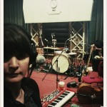 Recording for the Jamie Cullum show at BBC's Maia Vidal, with Ane Brun.
