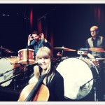 Recording TV with the Ane gang! Here Ola, Linnea and Micke.