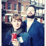 Linnea Olsson and Ola Hultgren from Ane Brun's tour band. In the sunlight