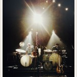 Ane Brun's two drummers in the limelight.